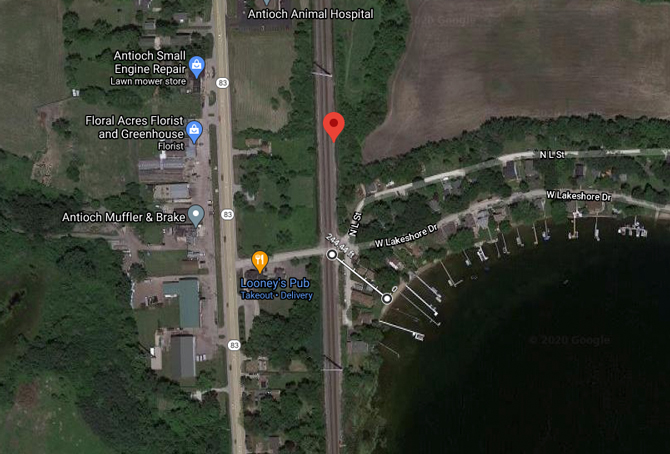 Car vs Canadian National freight train crash near Loon Lake, unincorporated Antioch (map)