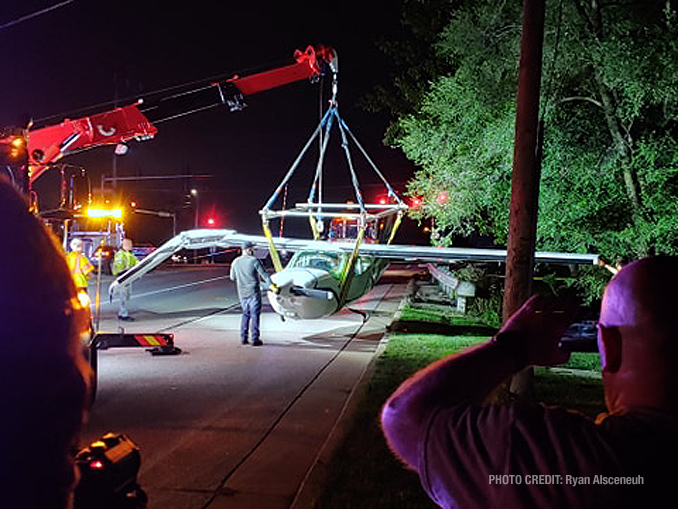 Cessna recovery photos Thursday night, September 17, 2020