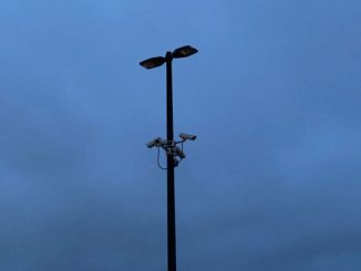 No overhead lights on in parking lot after dark at the Mount Prospect Walmart parking lot after robbery on Wednesday, September 9, 2020
