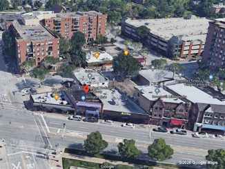 Aerial View Arlington Coin, 8 East Northwest Highway, Arlington Heights