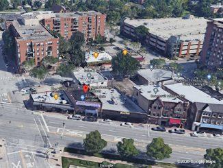 Aerial View Arlington Coin, 8 East Northwest Highway, Arlington Heights