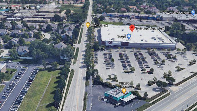 Aerial View Target Arlington Heights