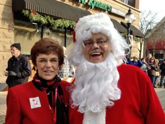 Bob Rohrman as Santa with former Mayor Arlene Mulder in December 2012