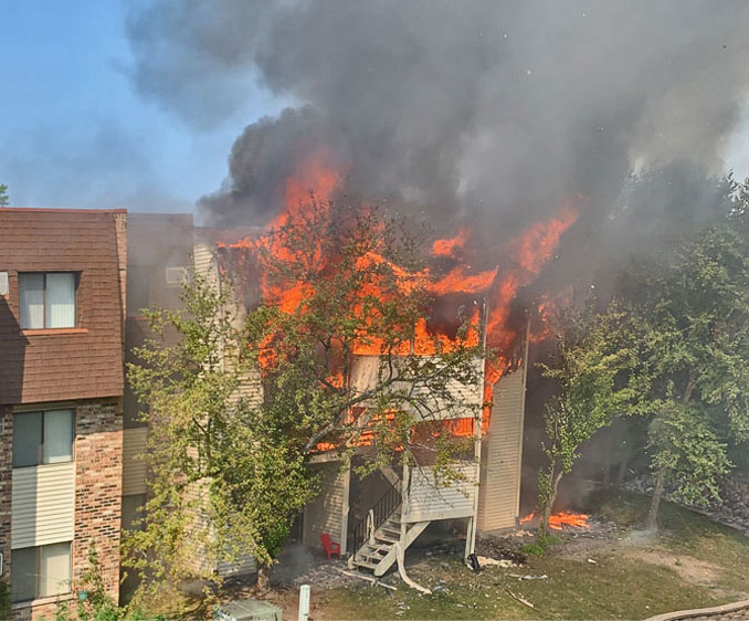 Glendale Heights condominium fire with two homicide Monday, August 24, 2020