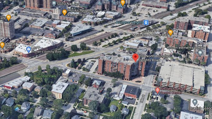 Hancock Square apartment building Aerial View (©2020 Google Maps)