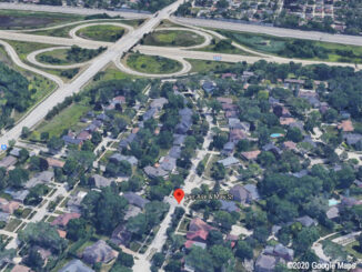 I-290 and St Charles Road Aerial View, North is left, East is top (©2020 Google Maps)