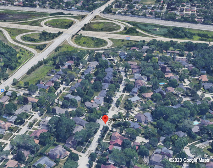 I-290 and St Charles Road Aerial View (©2020 Google Maps)