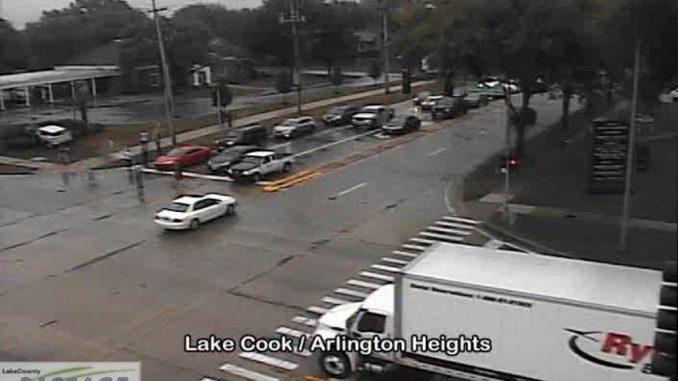 Crash at Lake Cook and Arlington Heights Road on Saturday, September 12, 2020