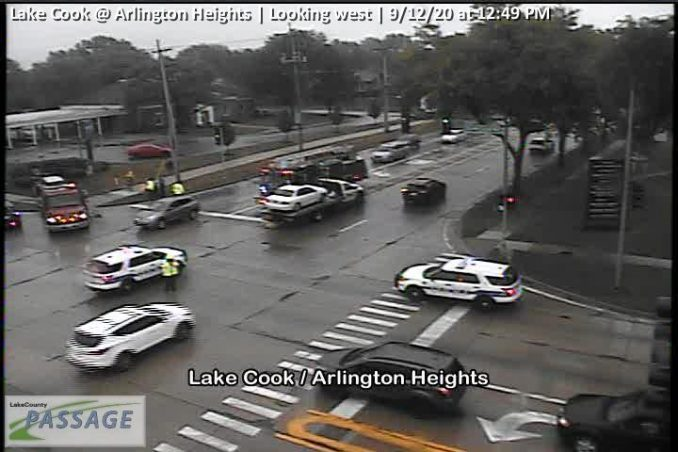 Clearing crash at Lake Cook and Arlington Heights Road on Saturday, September 12, 2020