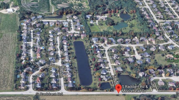 Moorehead Drive and Raddant Road Batavia Aerial View (©2020 Google Maps)