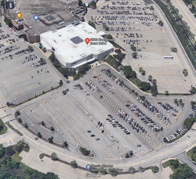 Neiman Marcus at Northbrook Court Google satellite view