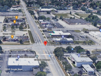Oakton Street andMannheim Road Aerial View (©2020 Google Maps)