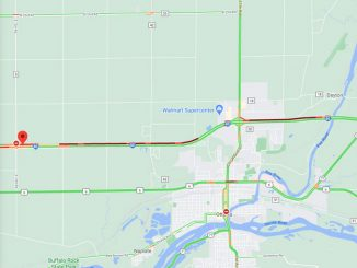 I-80 crash near Ottawa, Illinois on Friday, September 25, 2020 (©2020 Google Map)