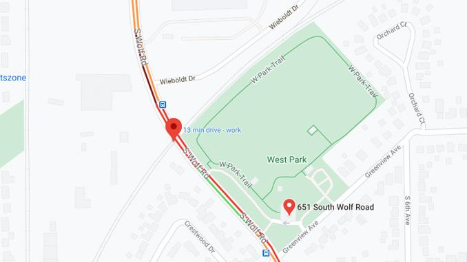 Pedestrian hit by a freight train at Wolf Road crossing near West Park (Google satellite map)