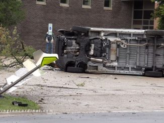Rollover delivery van crash into Indian Grove Elementary School parking lot in Mount Prospect