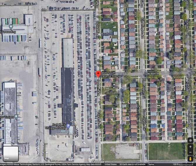 Shooting Scene on Laramie Avenue, Chicago (SOURCE: Google Maps)