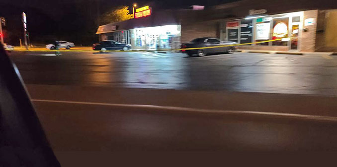 Witness report of shots fired near Clifford's Pub on Rand Road in Palatine Township