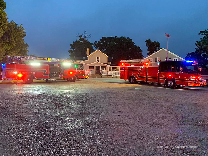Fire equipment at the front of the Thirsty Turtle Bar and Grill after the fire was extinguished on Wednesday, September 9, 2020