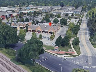 Walgreens Aerial View Northwest Highway and Dryden Place Arlington Heights