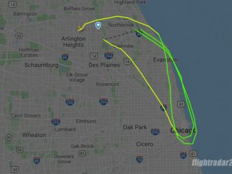 Flight path N2699V before crash in Palatine on Thursday, September 17, 2020