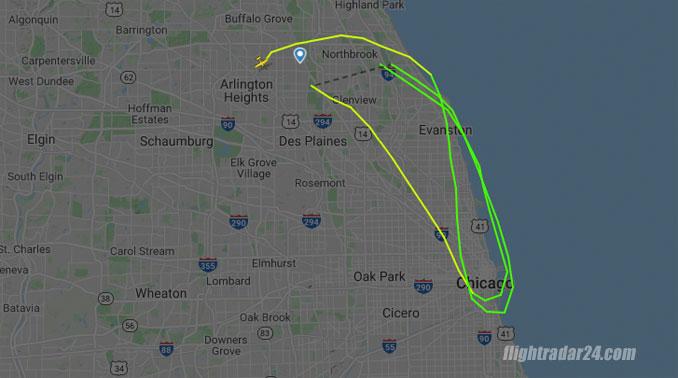 Flight path N2699V before crash in Palatine on Thursday, September 17, 2020