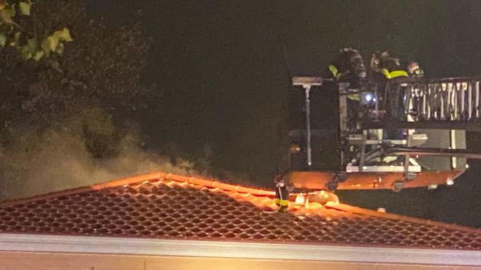 House fire Arlington Heights on Cedar Glen Drive