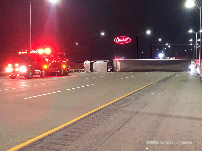 Rollover truck crash I-94 East Saturday, October 17, 2020