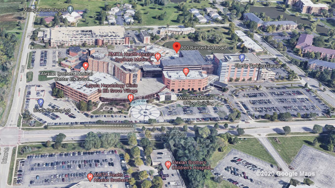 Alexian Brothers Medical Center Aerial View (©2020 Google Maps)