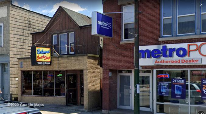 Belmont Snack Shop Street View (©2020 Google Maps)
