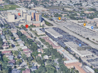 Carol Street and Western Avenue Aerial View (©2020 Google Maps)