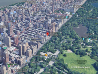 Central Park West and 70th Aerial View (©2020 Google Maps)