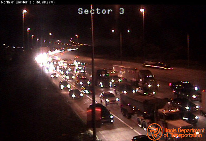 Crash delays on southbound IL-53/I290 between Higgins Road and Biesterfield Road near Elk Grove Village and Schaumburg on Friday, October 30, 2020 (SOURCE: IDOT)