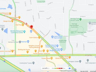 Crash Map Algonquin Road near Walmart in Rolling Meadows (Map data ©2020 Google)