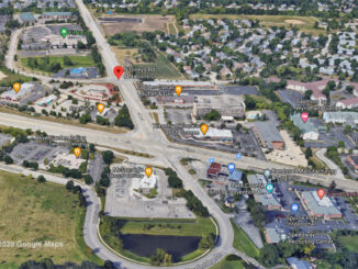 Dilleys Road and Nations Drive Gurnee Aerial View (©2020 Google Maps)