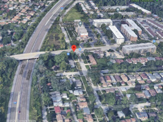 LIncoln Avenue and Central Avenue in Morton Grove Aerial View (©2020 Google Maps)