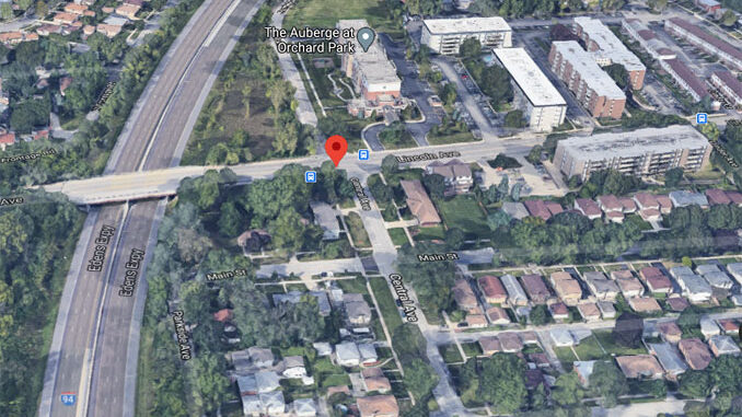 LIncoln Avenue and Central Avenue in Morton Grove Aerial View (©2020 Google Maps)
