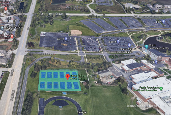 Parking Lot 12 Harper College Aerial View (©2020 Google Maps)