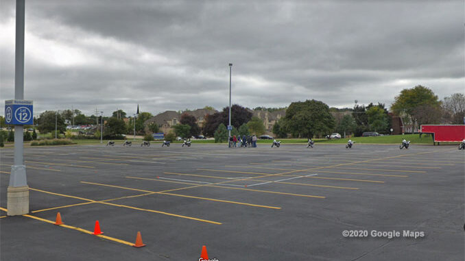 Lot 12 Harper College Google Maps Street View at time of a previous training session in October 2018 (©2020 Google Maps)