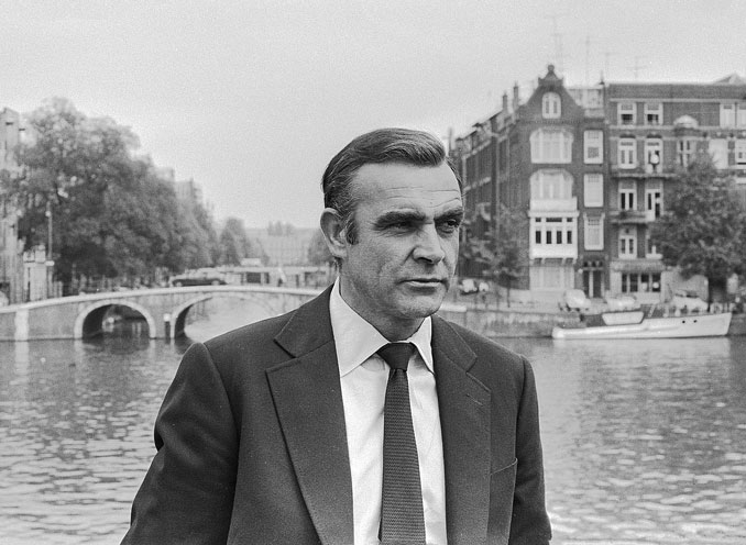 Sean Connery as James Bond during filming of Diamonds are forever in 1971