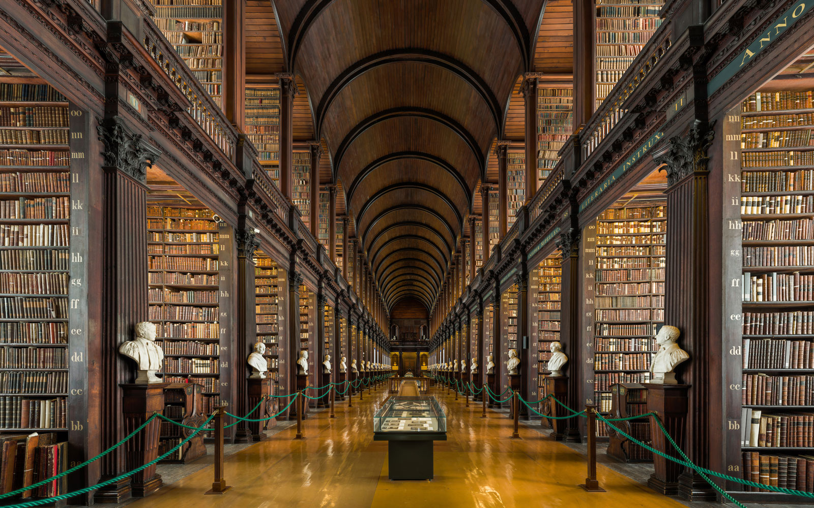 The Long Room of the Old Library at Trinity College Dublin (PHOTO CREDIT: David Iliff. License: CC BY-SA 3.0