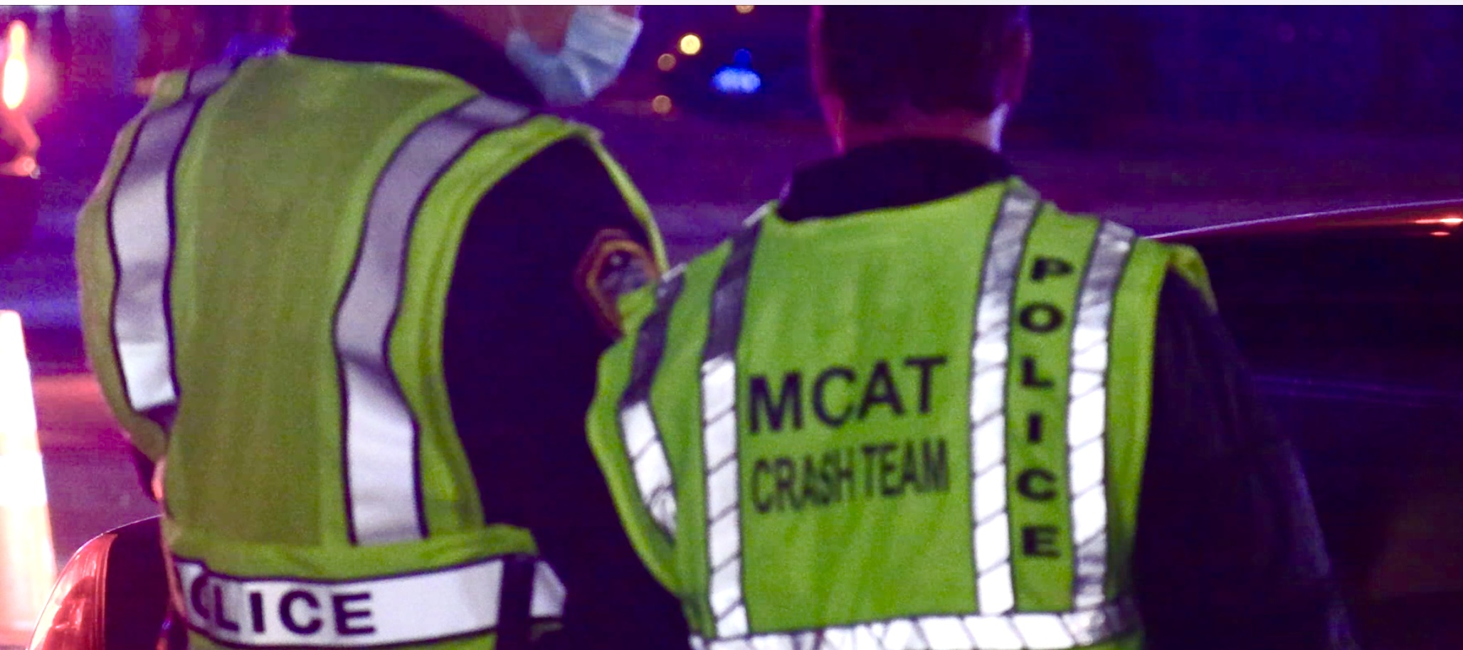 MCAT on the scene where two pedestrians were hit by a car while they were pushing another stalled vehicle in the southbound lanes Barrington Road just south of Bode Road in Hoffman Estates