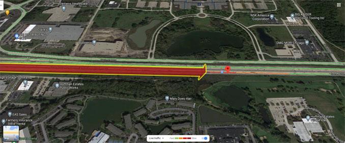 Crash Aerial View I-90 near Mile Marker 63, Thursday Nov26-2020