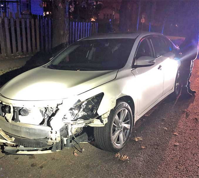 DUI crash with police squad car in Waukegan, Lake County (SOURCE: Lake County Sheriff's Office)