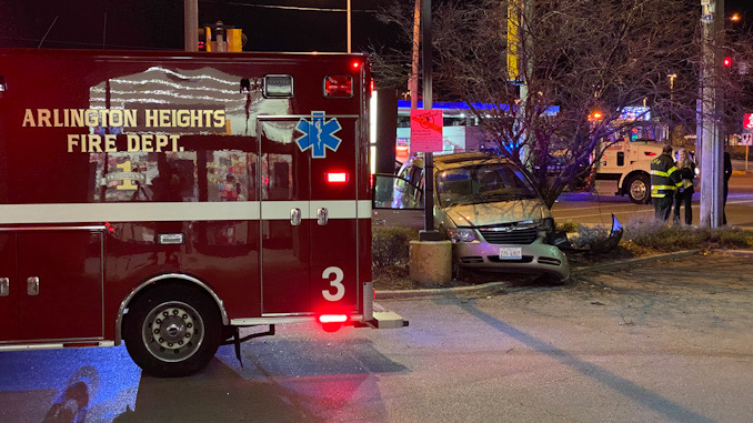 Crash with entrapment at Golf Road and Arlington Heights Road in Arlington Heights