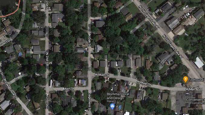 Oak Street and Main Street, Gages Lake (Imagery ©2020 Maxar Technologies, U.S. Geological Survey, USDA Farm Service Agency, Map data ©2020)