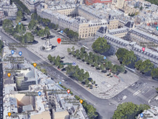 Place de la République, Paris, France (Imagery ©2020 Google, Imagery ©2020 Aerodata International Surveys, CNES / Airbus, Maxar Technologies, The GeoInformation Group | InterAtlas, Map data ©2020)