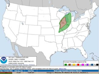NOAA SPC Tornado Outlook TUE NOV 10 2020 (DAY 1 afternoon)