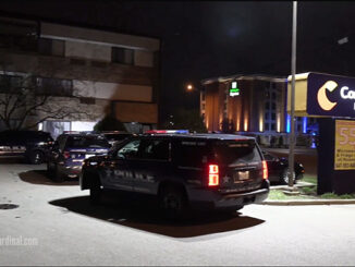 Stabbing crime scene investigated at Comfort Inn on South Arlington Heights Road near Algonquin Road