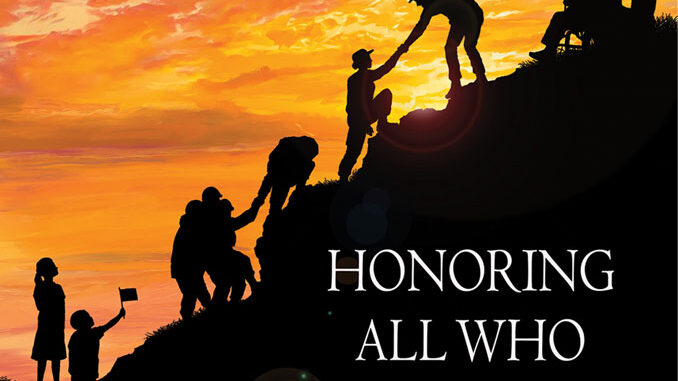 "Office of Public and Intergovernmental Affairs Veterans Day poster 2020 ""Honoring All Who Served"""