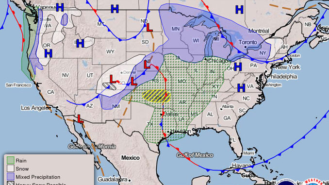 NWS Weather Map issued 2153 on November 24, 2020